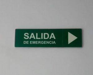 señalizacion salida de emergencia banco helm